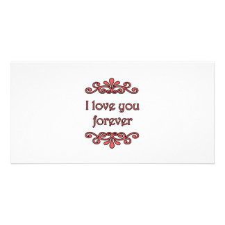 Te amo para siempre tarjetas con fotos personalizadas