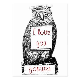 Te amo, para siempre postal