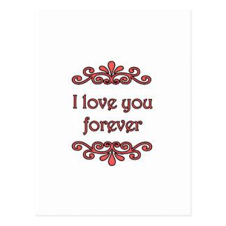 Te amo para siempre tarjetas postales