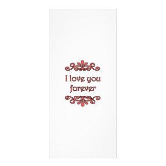 Te amo para siempre tarjetas publicitarias