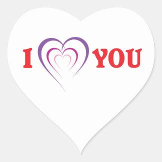 Te amo calcomanías corazones