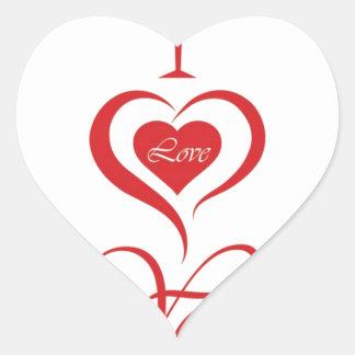 Te amo colcomanias corazon personalizadas