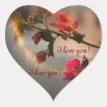¡Te amo! Pegatina De Corazon Personalizadas