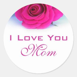 Te amo pegatina de la mamá