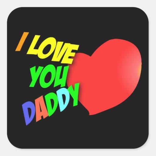 Te amo pegatina del papá