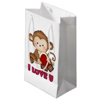 Te amo pequeño bolso del regalo del mono bolsa de regalo pequeña