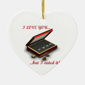 ¡Te amo, pero yo eated lo! Adorno De Cerámica En Forma De Corazón