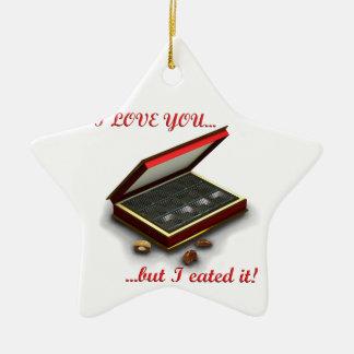 ¡Te amo, pero yo eated lo! Adorno De Cerámica En Forma De Estrella