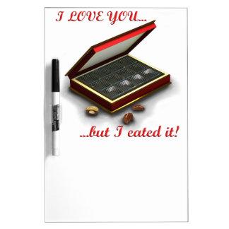 ¡Te amo, pero yo eated lo! Pizarras Blancas