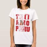 Te Amo Perú - amor Perú de I Playera