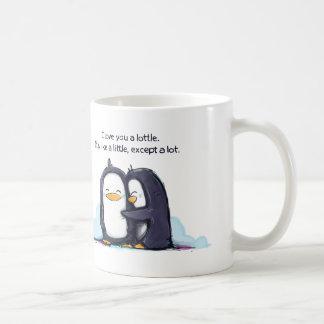 Te amo pingüinos de un Lottle - taza