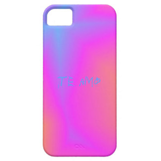 Te amo pink and blue abstract case for iPhone iPhone 5 Case