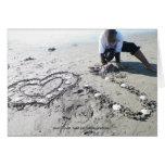 Te amo (playa) tarjeton