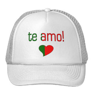 Te Amo! Portugal Flag Colors Trucker Hat