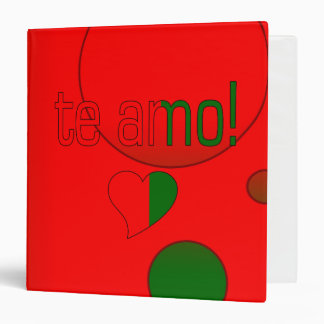 Te Amo! Portugal Flag Colors Pop Art 3 Ring Binder
