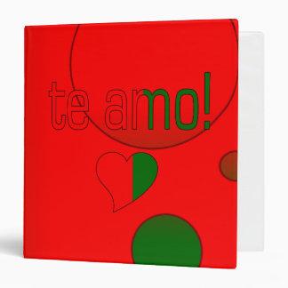 Te Amo! Portugal Flag Colors Pop Art Vinyl Binder