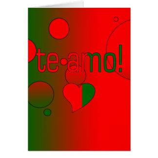 Te Amo! Portugal Flag Colors Pop Art Cards