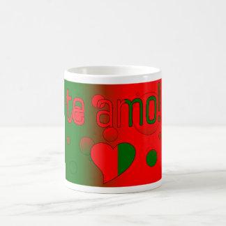 Te Amo! Portugal Flag Colors Pop Art Coffee Mug