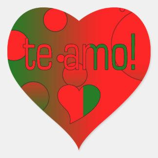 Te Amo! Portugal Flag Colors Pop Art Sticker