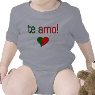 Te Amo! Portugal Flag Colors Bodysuits