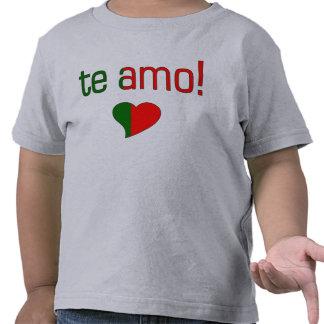 Te Amo! Portugal Flag Colors Tees