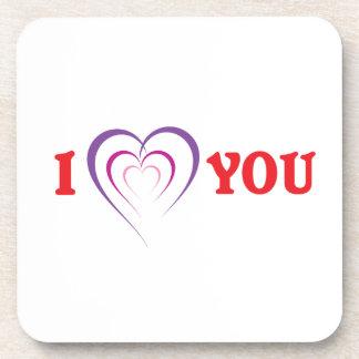 Te amo posavaso
