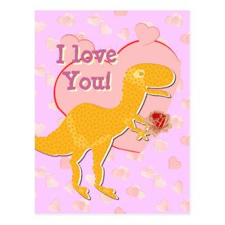 Te amo postal linda de la tarjeta del día de San V