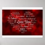 Te amo poster