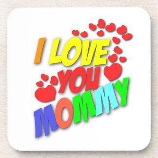 Te amo práctico de costa de la mamá posavaso