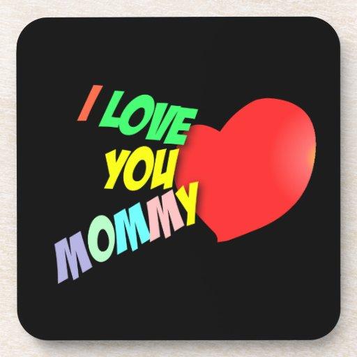 Te amo práctico de costa de la mamá posavasos