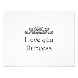 Te amo princesa comunicados personalizados