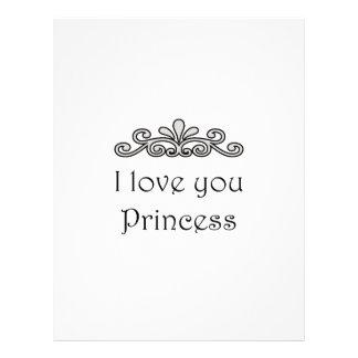 Te amo princesa membrete
