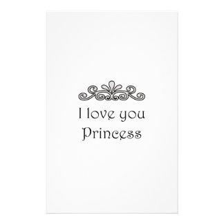 Te amo princesa papeleria personalizada
