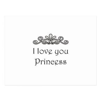 Te amo princesa postal