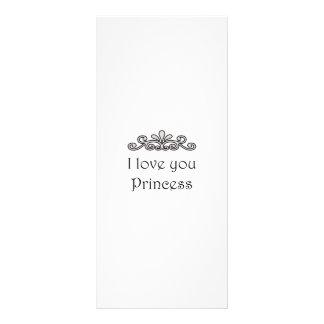 Te amo princesa tarjetas publicitarias a todo color
