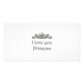 Te amo princesa tarjetas personales con fotos