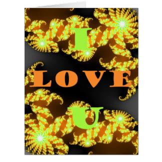 Te amo recuerdos amarillos de oro de Hakuna Matata Tarjeta De Felicitación Grande