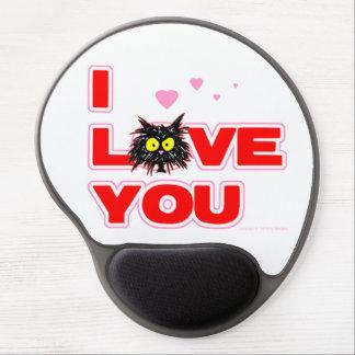 """""""Te amo"""" regalo del amante del gato del gatito de  Alfombrilla Gel"""
