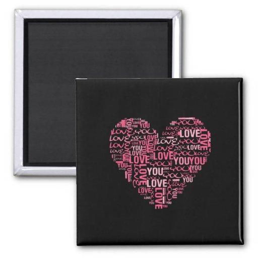 Te amo regalo del el día de San Valentín del coraz Imán Cuadrado