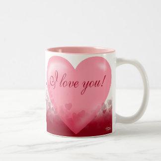 Te amo regalo del festival del corazón tazas de café