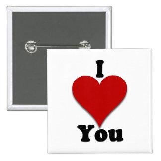 Te amo regalos y ropa pins