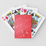 Te amo rojo cartas de juego