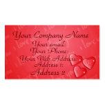 Te amo rojo tarjeta personal
