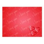 Te amo rojo tarjetas postales