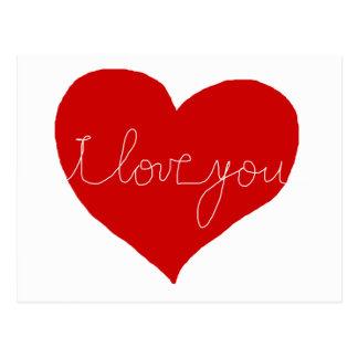 Te amo, romántico tarjetas postales