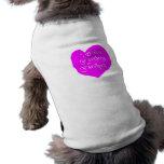 Te amo rosa de la abuela y del abuelo ropa de perro