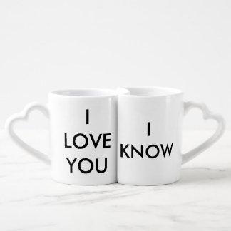 """""""Te amo"""" """"sé"""" los pares que conectan las tazas Tazas Para Enamorados"""