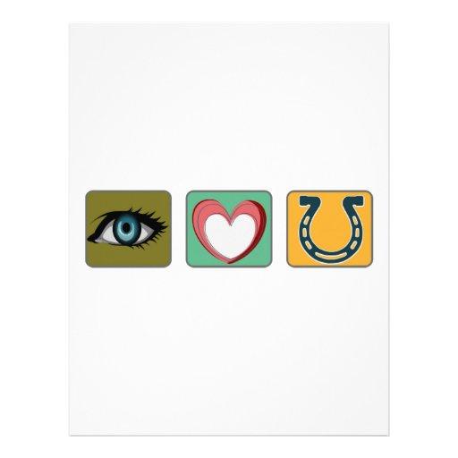 Te amo símbolos membretes personalizados
