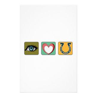 Te amo símbolos  papeleria de diseño