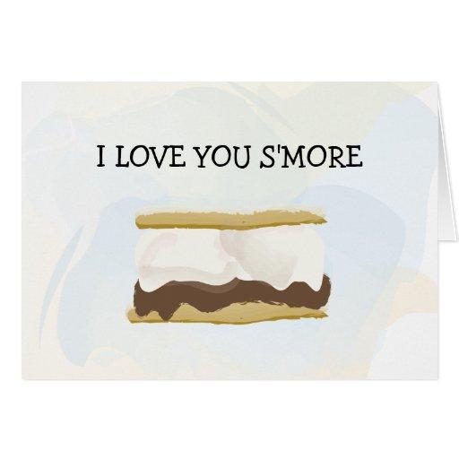 Te amo S'more Tarjeta
